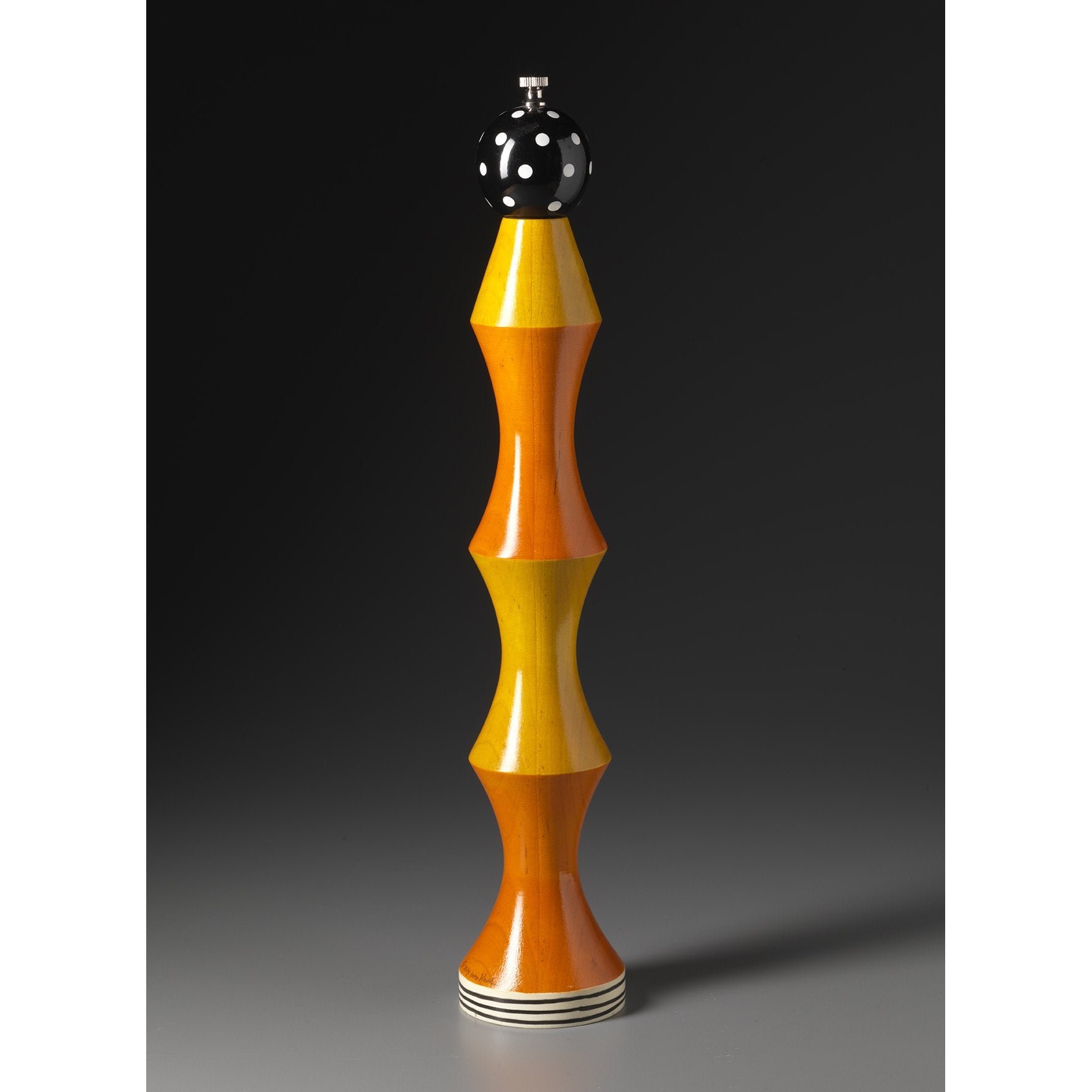 Wood Salt And Pepper Mill Grinder In Orange Yellow Black White Raw Design Sweetheart Gallery Contemporary Craft Gallery Fine American Craft Art Design Handmade Home Personal Accessories