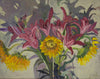Lila Bacon Floral Painting on Canvas Pink Lilies c-lb204