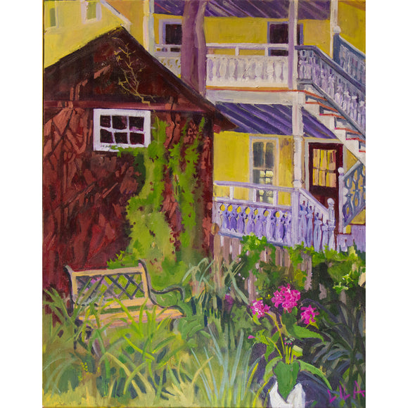 Lila Bacon Landscape Painting on Canvas Cape May c-lb219