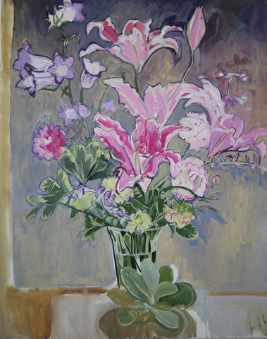 COVID Lilies NC C-LB329 Painting by Lila Bacon 04/20 24x30