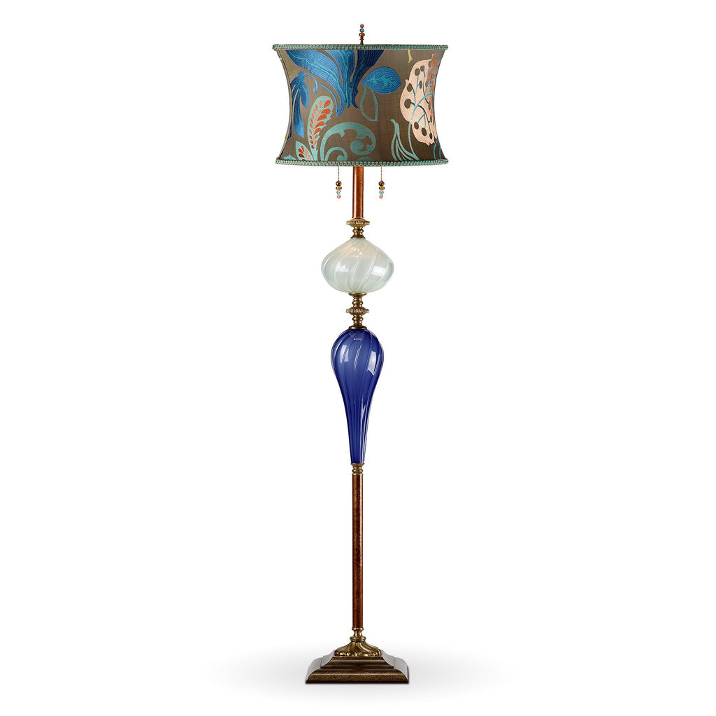 Christopher Floor Lamp, Kinzig Design, Cobalt Blue, Seafoam Green ...