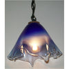 Crystal Postighone Blue & Clear Pendant Light, Artistic, Artisan, Hand Blown Glass Pendants