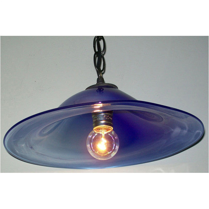 lamp glass blue pendant dp ceiling shade vintage modern loft light industrial