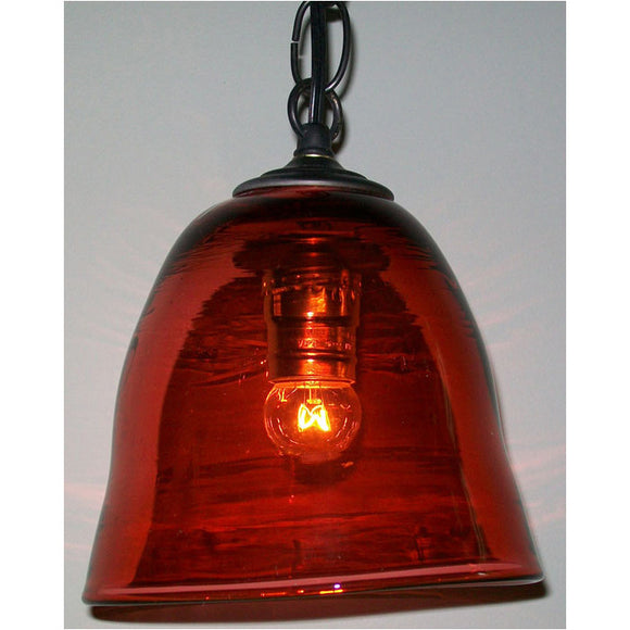 Crystal Postighone Dark Red Glass Pendant Light, Artistic, Artisan, Hand Blown Glass Pendants