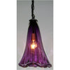 Crystal Postighone Purple Glass Pendant Light, Artistic, Artisan, Hand Blown Glass Pendants