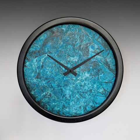 Nate Verdigris Copper Wall Clock by Leonie Lacouette
