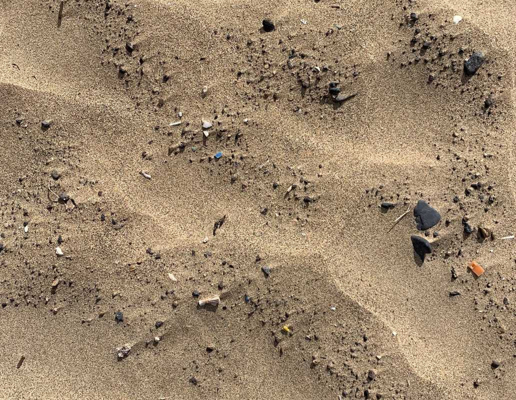 Plastic in the sand