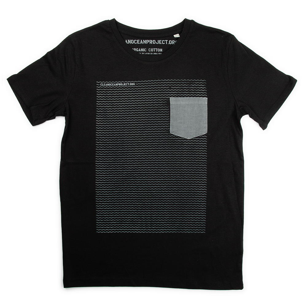 "T-Shirt Man ""Waves"" black"