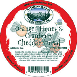Adirondack Orange-Honey & Cranberry Spread 4 or 8 Pack