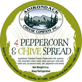 Adirondack 4 Peppercorn & Chive Spread 4 or 8 Pack