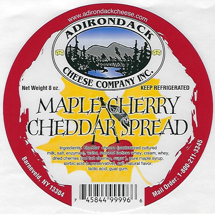 Copy of Adirondack Maple Cherry Cheddar Spread 4 or 8 Pack