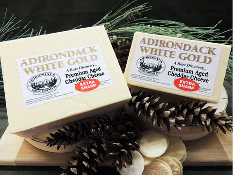 "Our Premium Adirondack ""White Gold"" Cheddar"