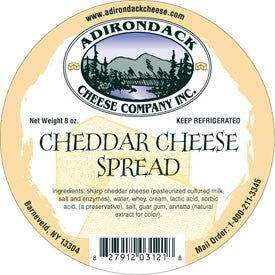 Adirondack Cheddar Spread 4 or 8 Pack