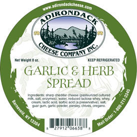 Adirondack Garlic & Herb Spread 4 or 8 Pack