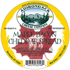 Adirondack Maple Bacon Cheddar Spread 4 or 8 Pack