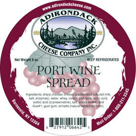 Adirondack Port Wine Spread 4 or 8 Pack