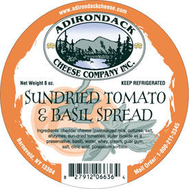 Adirondack Sundried Tomato & Basil Spread 4 or 8 Pack