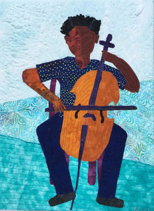 African-American boy playing the cello, Black boy playing the cello