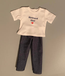 Howard Girl t-shirt and jeans