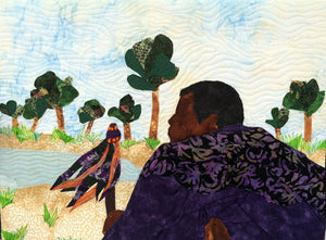 African chief picture, African chief quilt art
