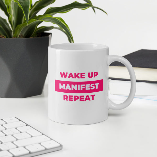 """Wake Up, Manifest, Repeat"" V1 Mug"