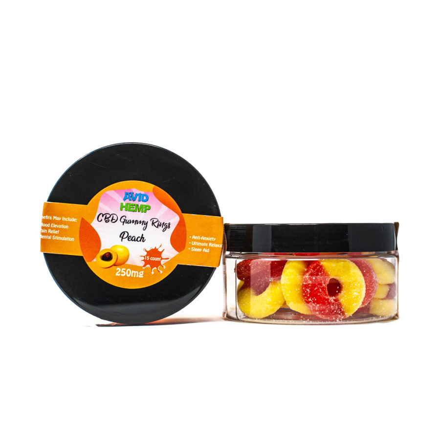 Avid Hemp CBD Gummy Rings 250mg