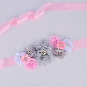 Floral Maternity Sash Pregnancy Belly Belt Photo Props Gift - Monanna