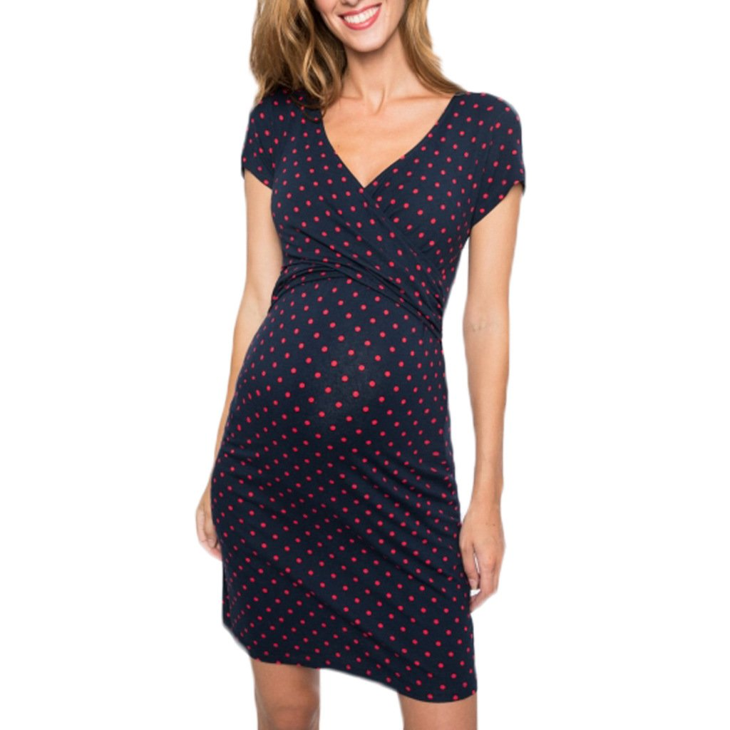 Pregnant Women's Dress Soft And Comfortable Cotton - Monanna