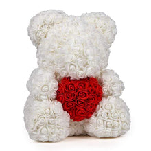 Load image into Gallery viewer, White Love Heart Rose Bear Limited Edition