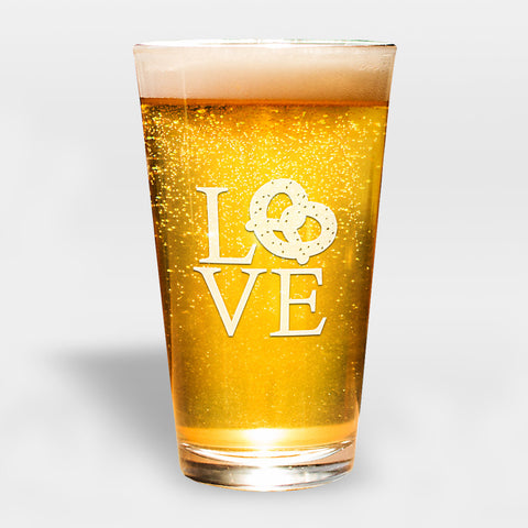 LVE Pretzel City Pint Glass