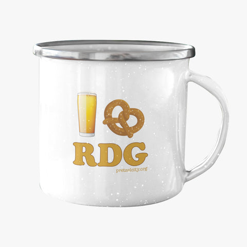 I Pretzel Reading Enamel Mug