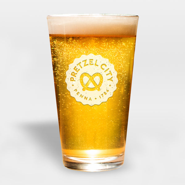 Pretzel City Pint Glass