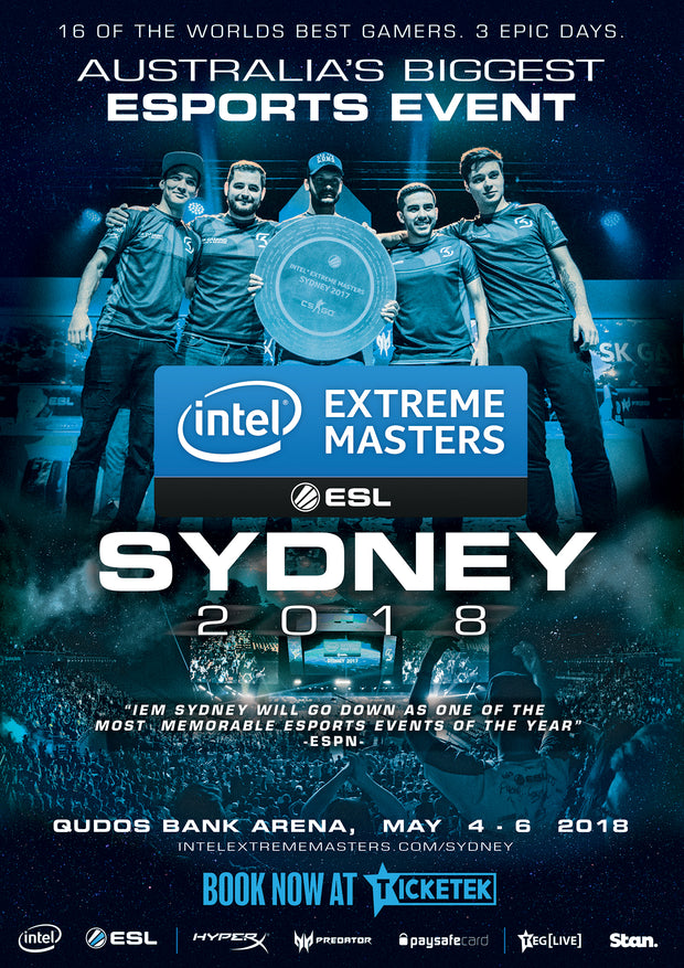 IEM Sydney 2018 Official Event Poster - A2