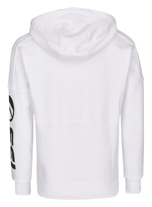 ESL Premium Zip Up Hoodie Sleeve Print white