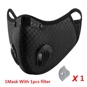 Cycling Face Mask Filter Anit-fog Anit-pollution