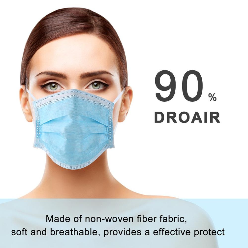 Mask Disposable Nonwove 3 Layer Ply Filter Mask mouth Face mask filter safe Breathable Protective masks