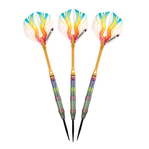 Elkadart Rainbow 90% Tungsten Steel Tip Darts Multi Color Titanium Coating