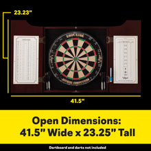 Load image into Gallery viewer, Viper Hudson Dartboard Cabinet Mahogany