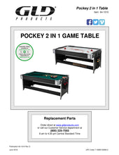 Load image into Gallery viewer, Fat Cat Original 2-in-1 7' Pockey Multi-Game Table