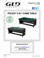 Load image into Gallery viewer, Fat Cat Original 3-in-1 7' Pockey Multi-Game Table (Blue)