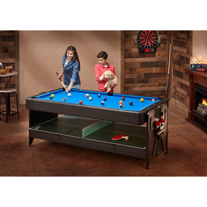 Fat Cat Original 3-in-1 7' Pockey Multi-Game Table (Blue)