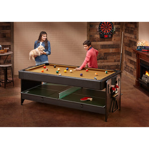 Fat Cat Original 3-in-1 7' Pockey Multi-Game Table (Tan)