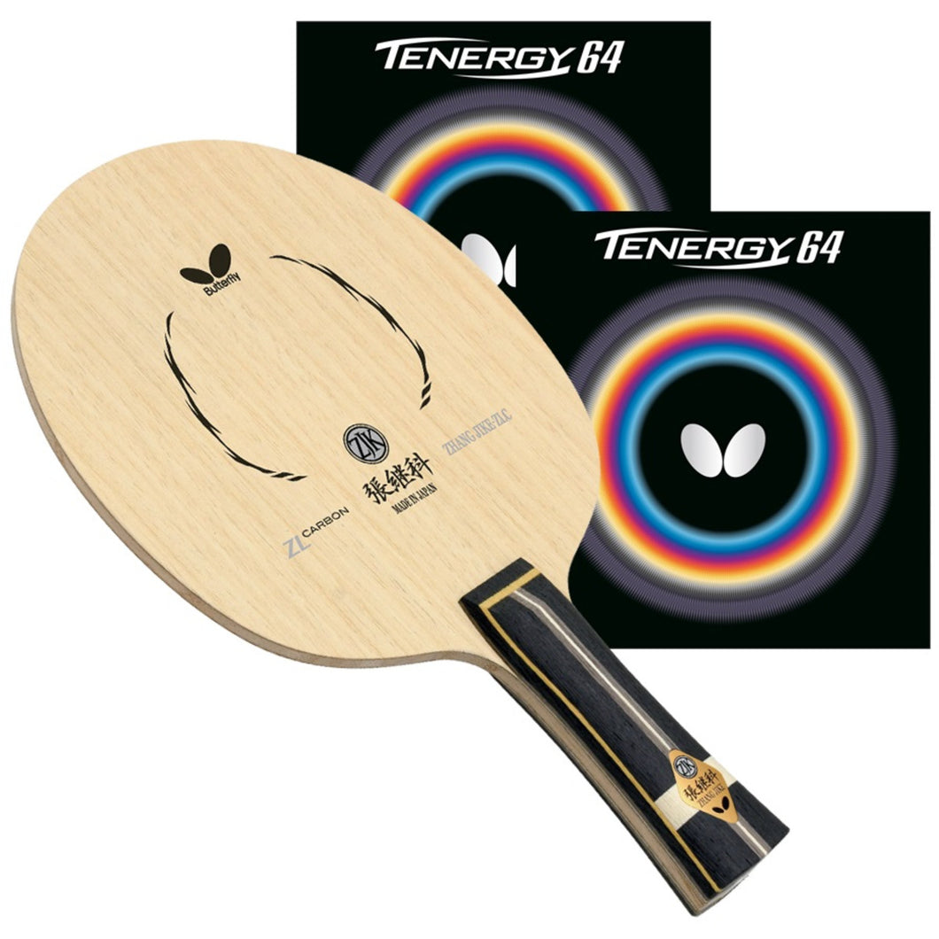 Butterfly Zhang Jike ZLC FL Pro-Line with Tenergy 64 Ping Pong Racket