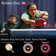 Load image into Gallery viewer, Butterfly Adriana Diaz Pro-Line Ping Pong Racket