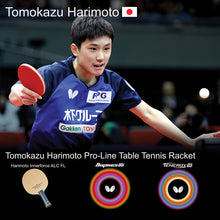 Load image into Gallery viewer, Butterfly Tomokazu Harimoto Pro-Line Ping Pong Racket