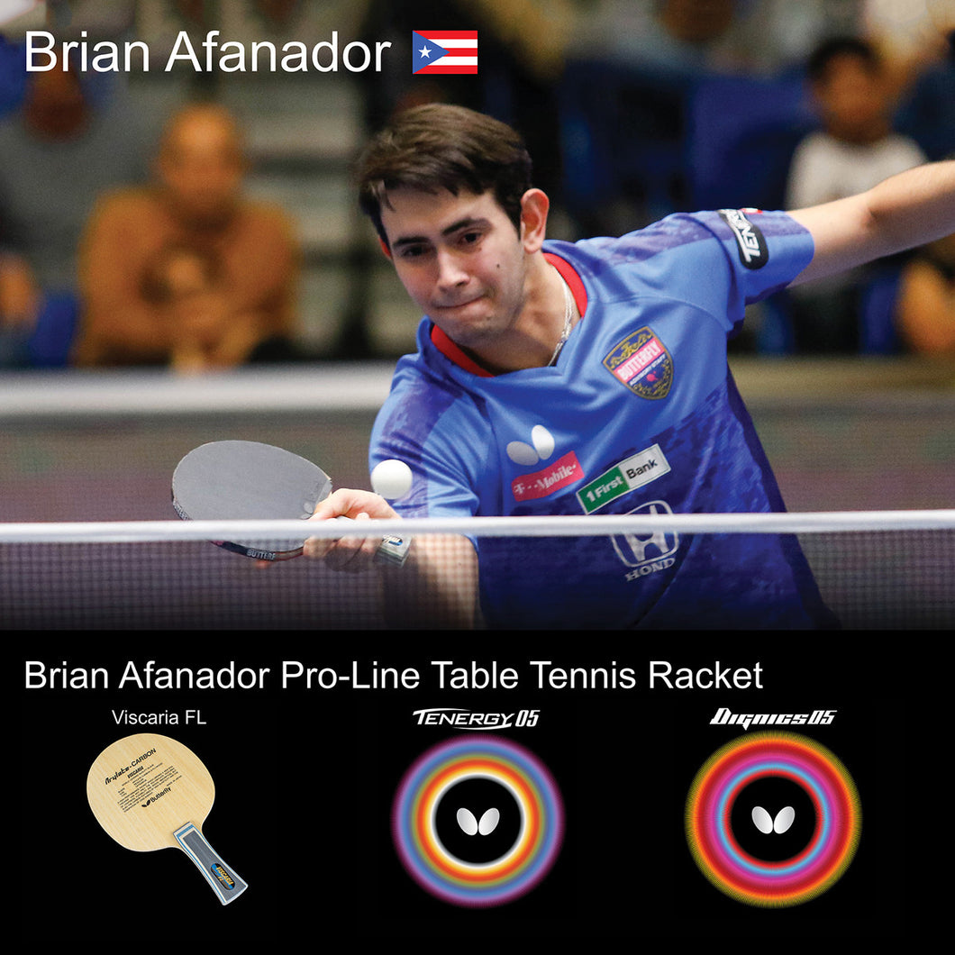 Butterfly Brian Afanador Pro-Line Ping Pong Racket