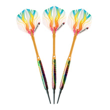 Load image into Gallery viewer, Elkadart Rainbow 90% Tungsten Soft Tip Darts Multi Color Titanium Coating