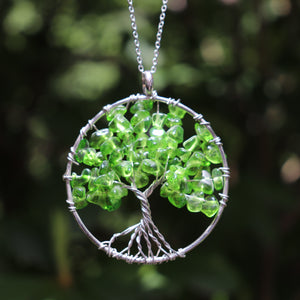 Tree of Life Crystal Pendant Necklace - Various Styles
