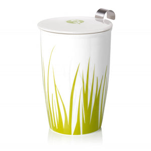Double-wall Porcelain Mug with Infuser - Grass