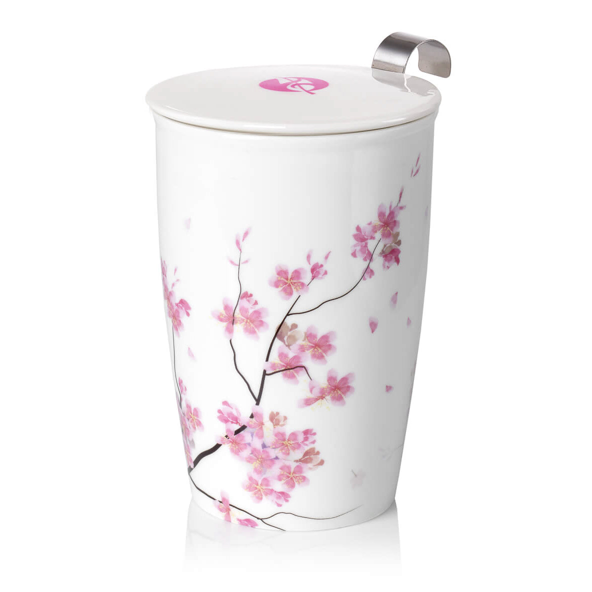 Double-wall Porcelain Mug with Infuser - Petals